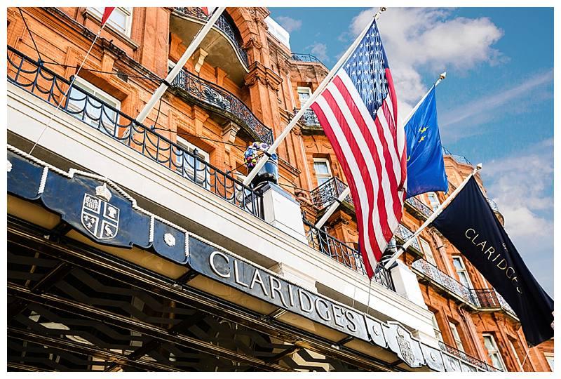 Claridge's summer wedding facade