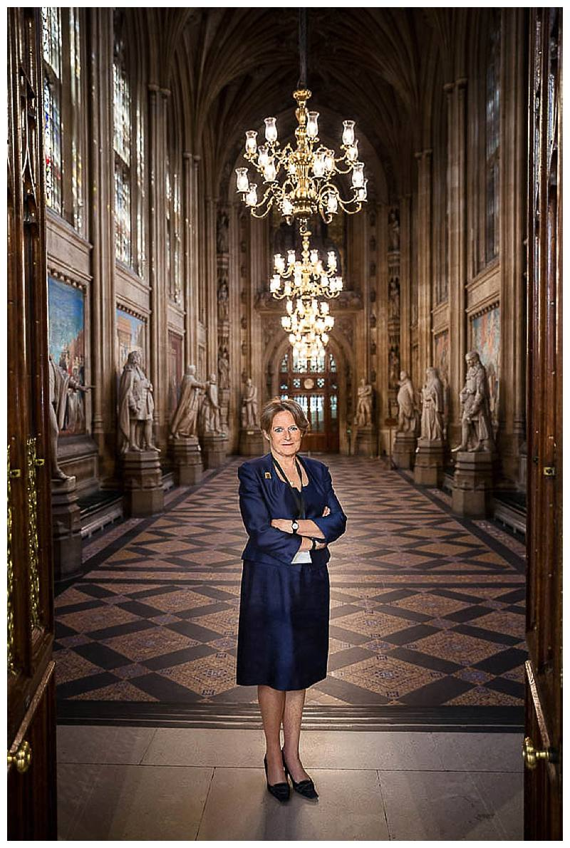 Portrait Photographer London Baroness Jenkin houses of parliament
