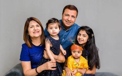 Fabulous family studio portrait photoshoot