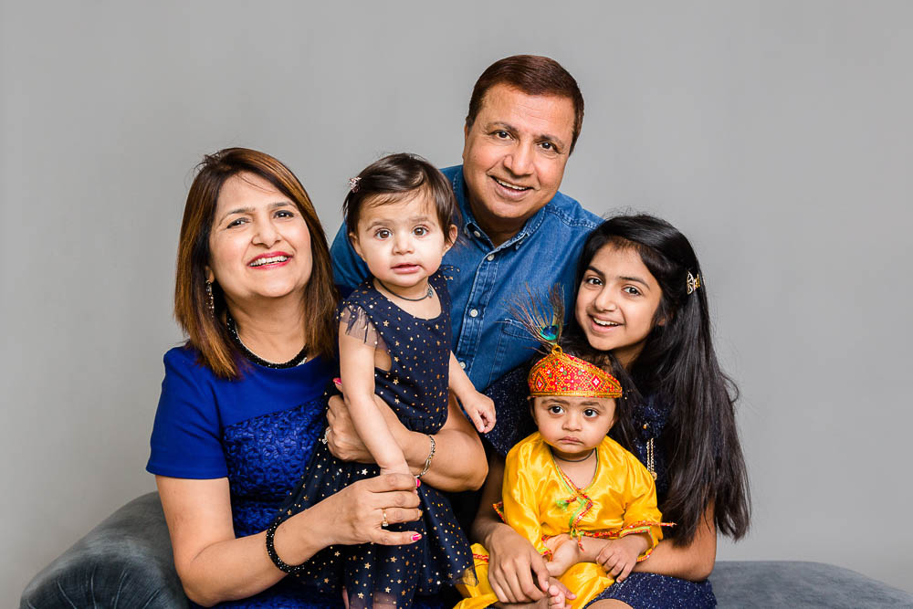 Fabulous family studio portrait photoshoot