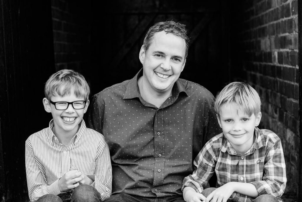 london family portrait photography Father's Day
