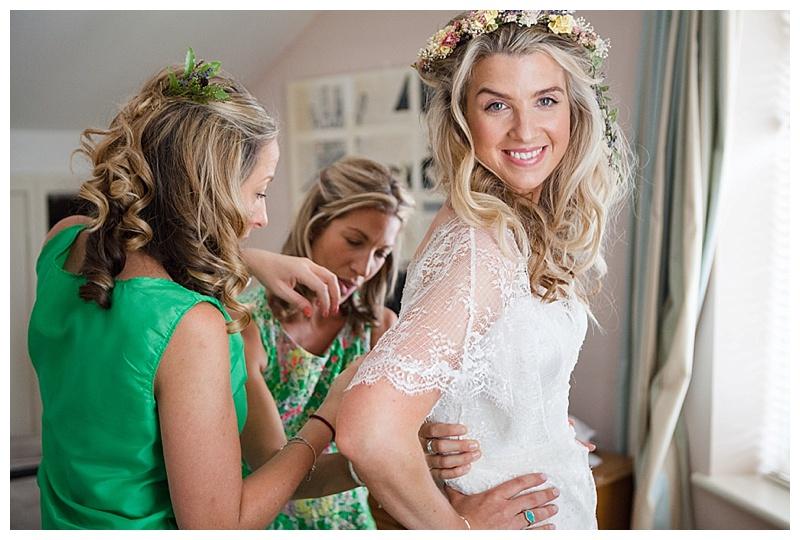 Camera shy bride getting ready for her wedding 0218