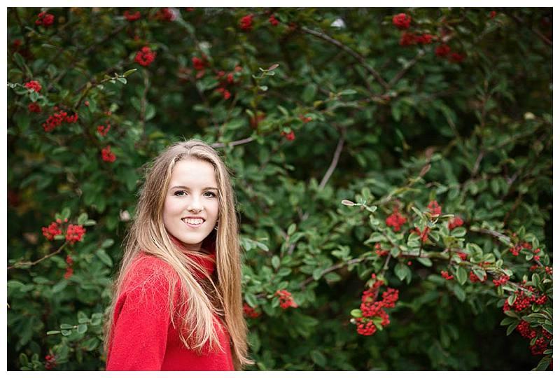 Teen photo shoot Willa in garden