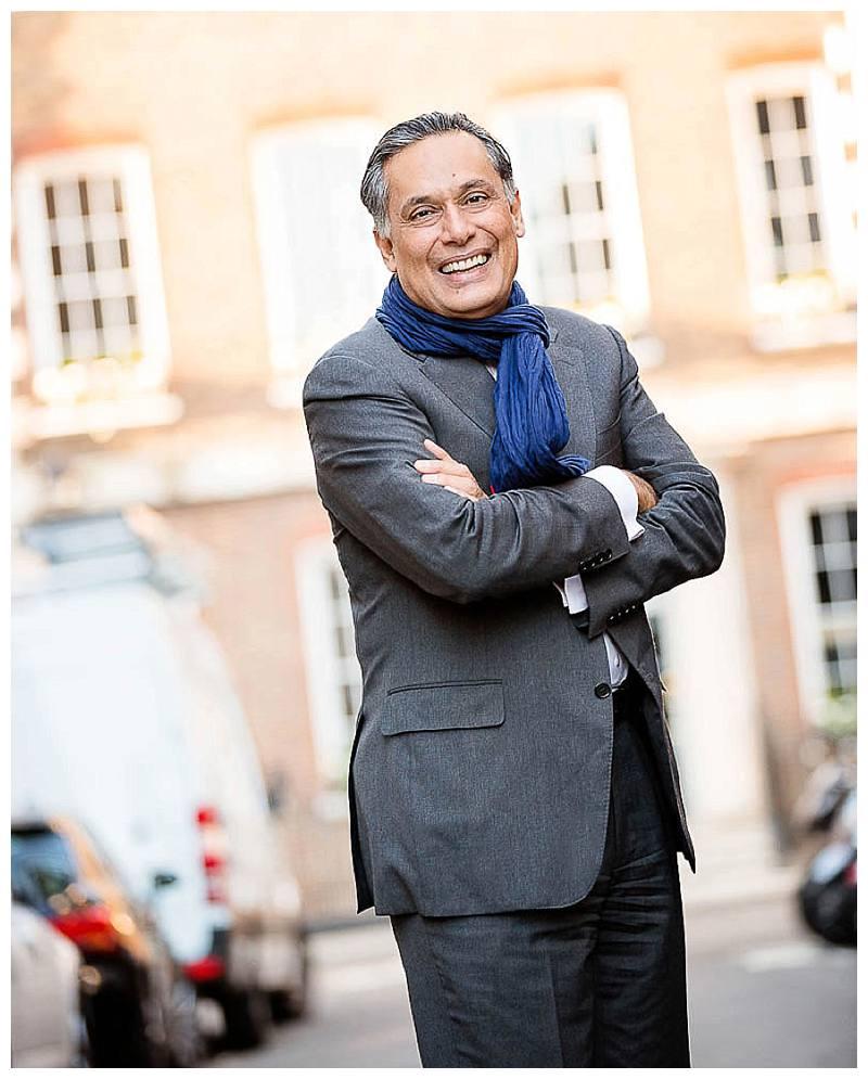Portrait Photographer London Manesh in scarf