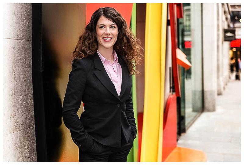 Portrait Photographer London colourful corporate shot
