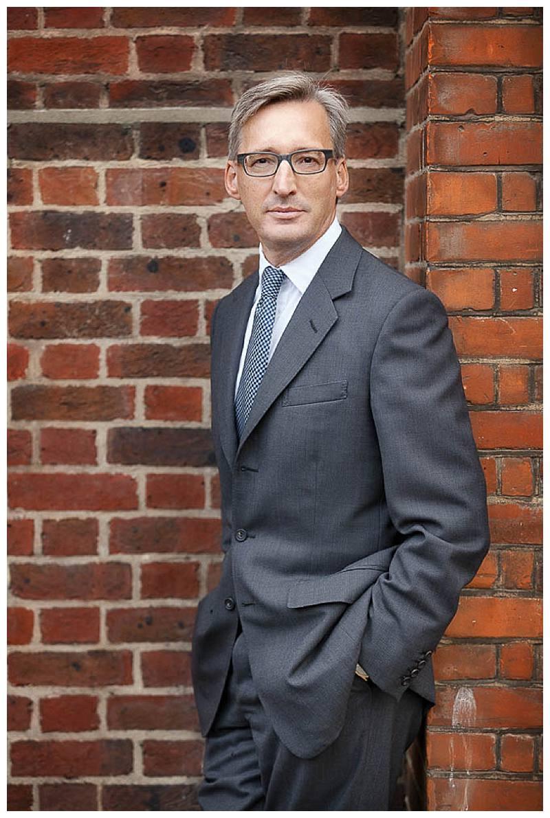 Portrait Photographer London contrasting brick walls