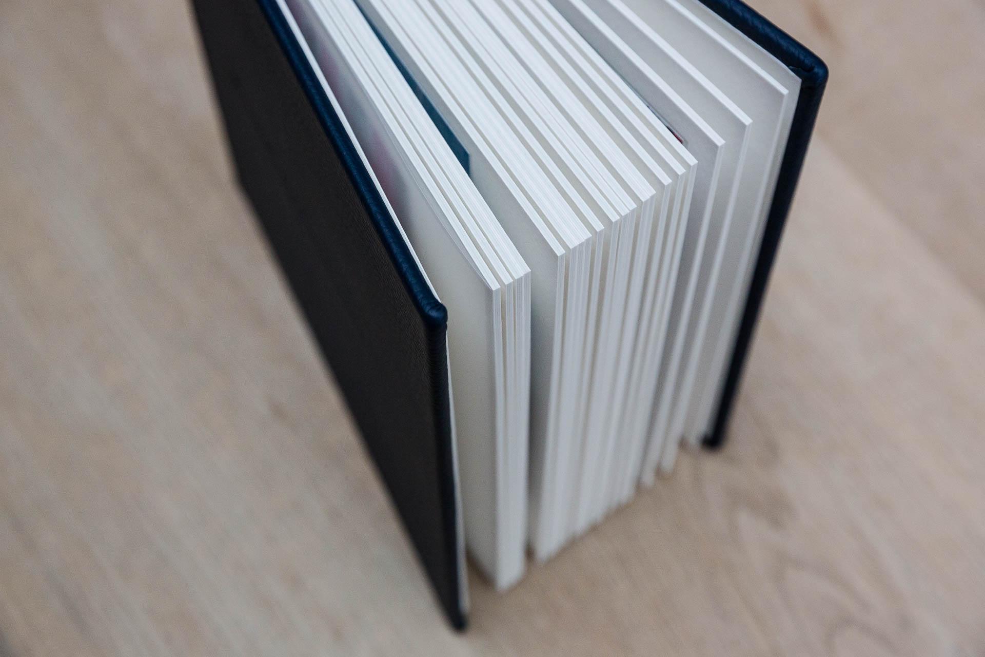 blue handmade bespoke photo album