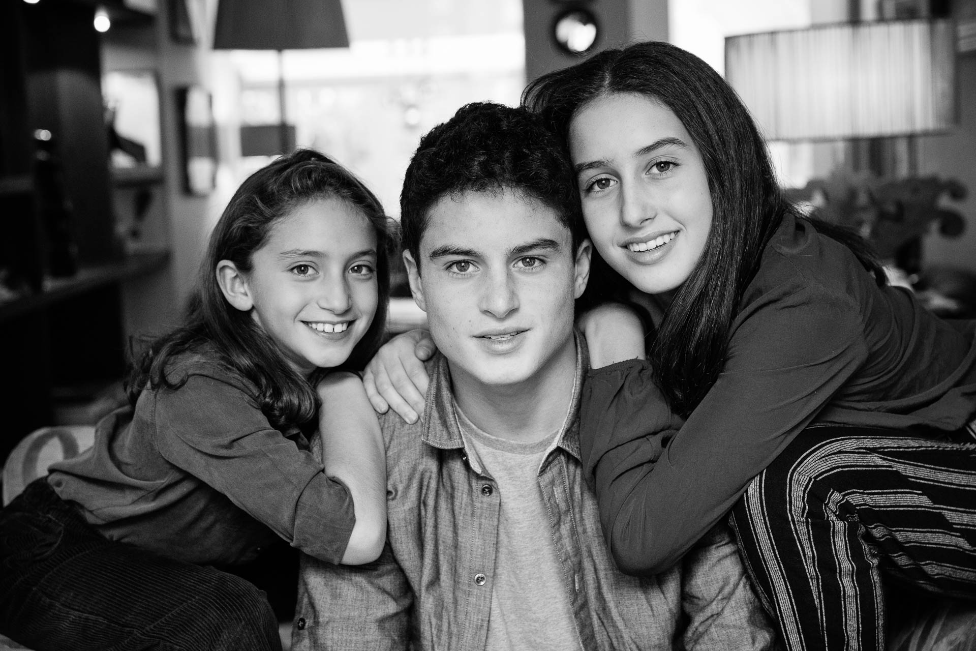 portrait of sisters and brother
