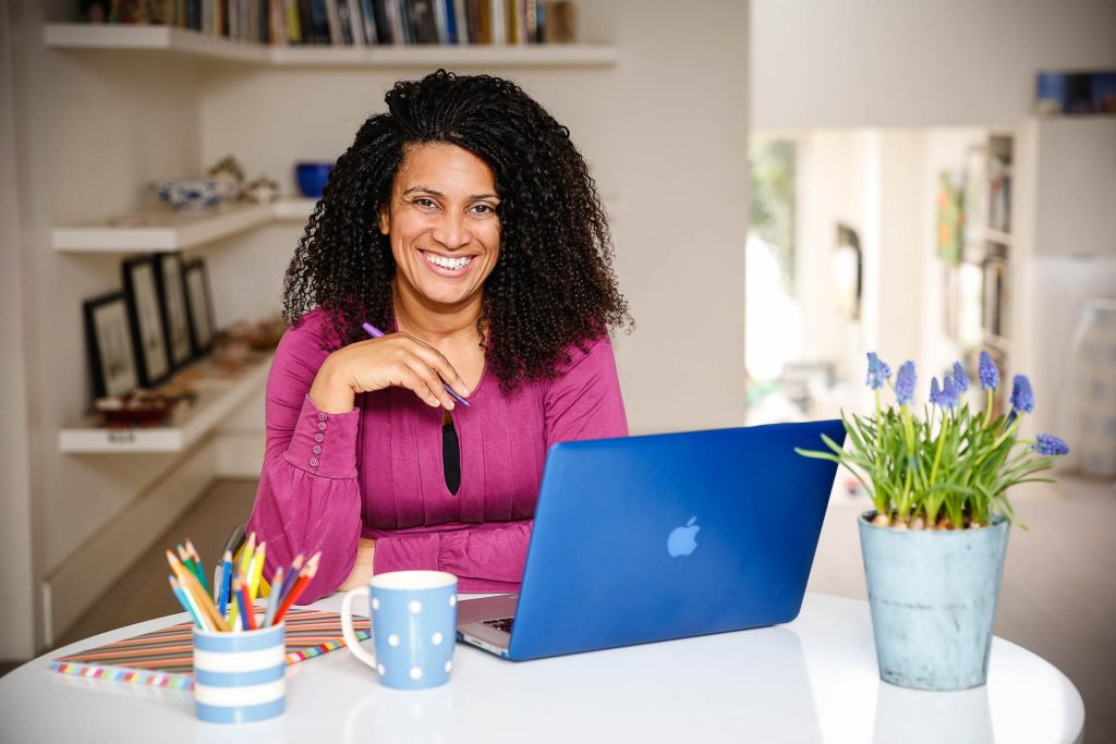 personal brand photograph of woman with laptop