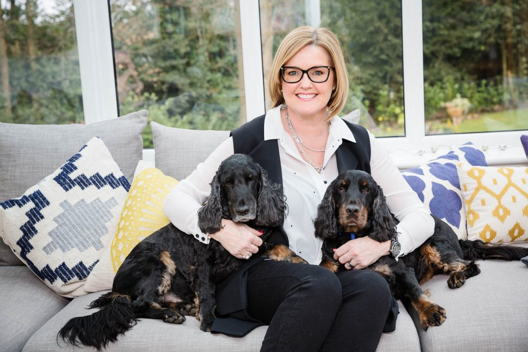 personal brand photo of woman with dogs