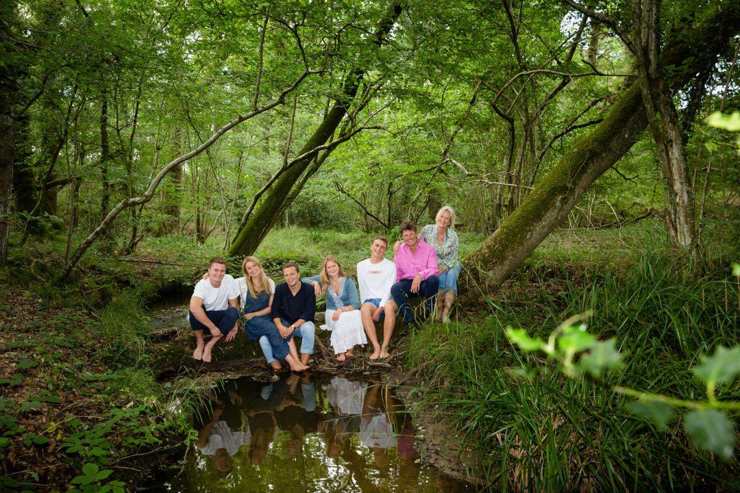 family photoshoot in woodland